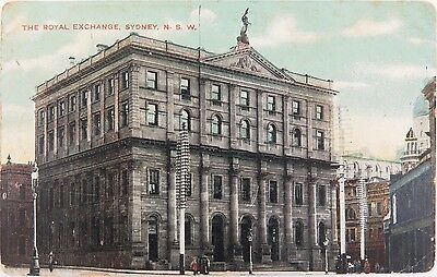 Early 1900'S The Royal Exchange, Sydney, Nsw Colour Postcard. The Star Series