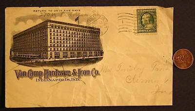1909 Indianapolis,Indiana Van Camp Hardware & Iron Co.business envelope-VINTAGE!