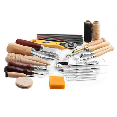 Leather Craft Stitching Carving Working Hand Sewing Saddle Groover Punch Tools