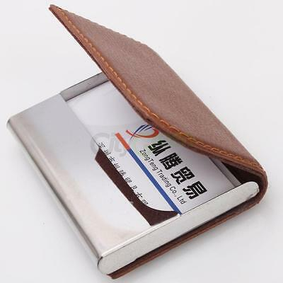 New Calling Business Name Credit ID Card Case Holder Wallet Pocket Photos Light