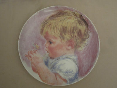 BABY BLOSSOMS collector plate FRANCES HOOK children