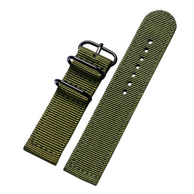 20mm 22mm Nylon Fabric Canvas Wrist Watch Strap Army Military Band 7 Colors
