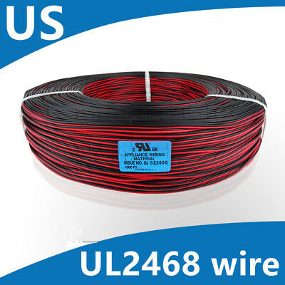Flexible Stranded of 22AWG~28AWG 2 Pin UL 2468 PVC Flat Ribbon Electronic wire