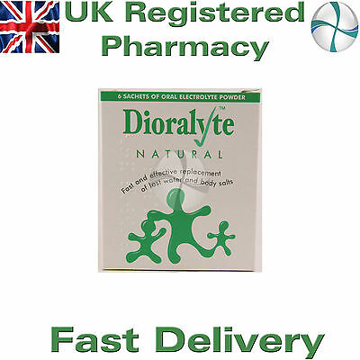 Dioralyte natural 6 sachets for diarrhoea fast delivery replaces lost salts rehy