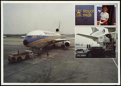 GB 1981 Airmail Carried By British Caledonian Postcard #C34119