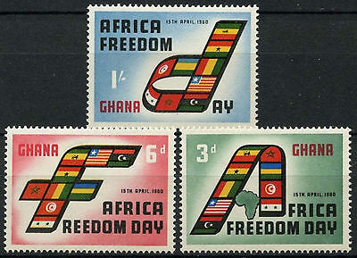 Ghana 1960 SG#242-4 Africa Freedom Day MH Set #D21792