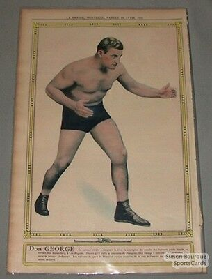 April 18th 1931 La Presse Don George Wrestling Premium Photo