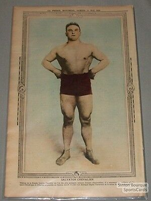 May 25th 1929 La Presse Salvator Chevalier Wrestling  Premium Photo