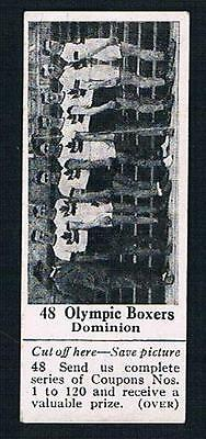 1925 Dominion Chocolate Sports Card #48 Canadian Olympic Boxers (Boxing)