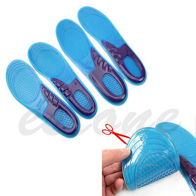 Women Men Silicone Gel Orthotic Arch Support Massaging Sport Shoe Insole Run Pad