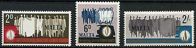 Malta 1968 SG#399-401 Human Rights Year MNH Set #D23007
