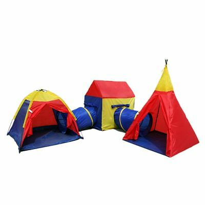 Boys Girls Large Giant Play Tent Tunnel Teepee Set Childrens Kids Indoor Outdoor