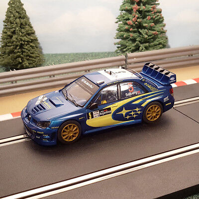 Scalextric 1:32 Car - 4WD Subaru Impreza WRC Solberg #5 *LIGHTS*