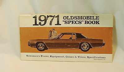 1971 Oldsmobile Salesmen's Specifications Book
