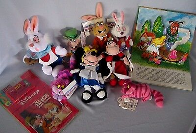 Alice in Wonderland Collection 7 Disney Bean Bags Pop Up & Read Along Books