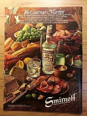 Original 1979 Smirnoff leaves you breathless Ad Vintage Advertisement -Playboy