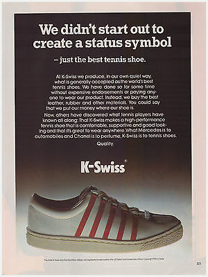 Original 1983 K-Swiss Tennis Shoe Vintage Print Ad