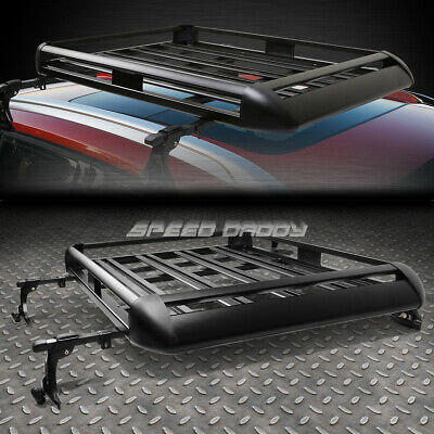 "50""x 38""aluminum Roof Rack Suv Top Cargo Luggage Carrier Basket+Crossbar Black"