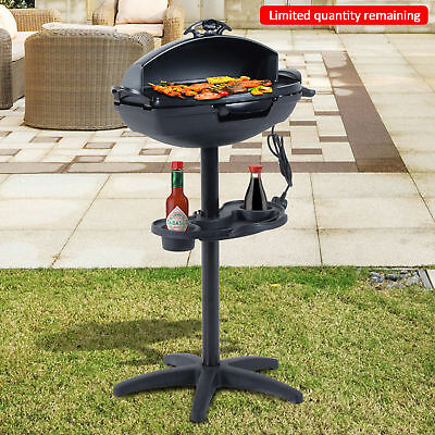 Outsunny 2000W Garden Electric Stand Barbecue Grill Portable Cooker Outdoor BBQ