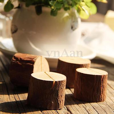 Real Wood Name Place Card Holder Memo Number Clip Stand Wedding Party Restaurant