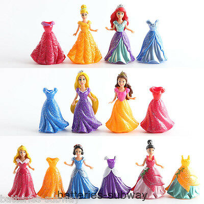 Lot 7 Disney Princess Snow White Cinderella Aurora Belle Rapunzel Action figures