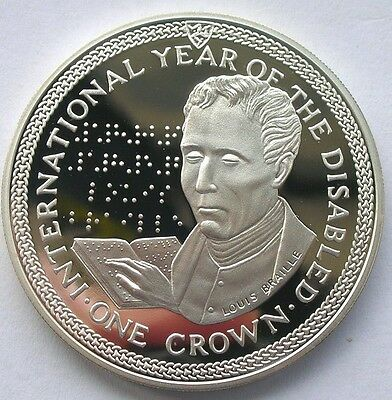 Isle of Man 1981 I.Y.D.P Crown Silver Coin,Proof