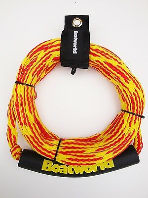 Boatworld 2 Rider Waterski Wakeboard Tube Towable Ringo Rope 50ft C/W Rope Tidy