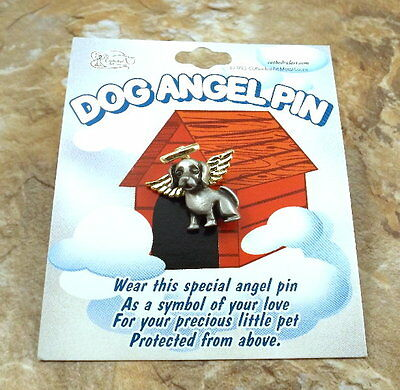 2-Tone DOG ANGEL PIN (All Dogs go to Heaven) - SP10