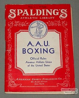 1936 Spalding's A.A.U. Boxing Official Rules Book