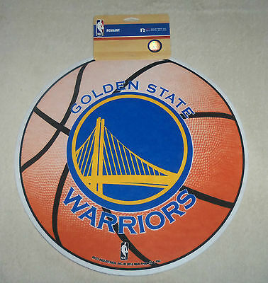 NBA Golden State Warriors Large Basketball Round Pennant New + Rare