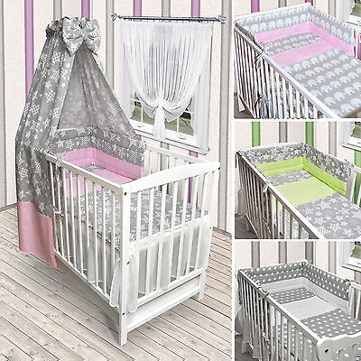 babybett kinderbett gitterbett wei bettw sche bettset. Black Bedroom Furniture Sets. Home Design Ideas