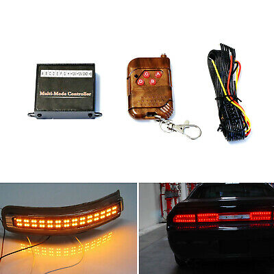 8-Output Multi-Function Flashing Controller For LED Lights w/ Wireles For Car