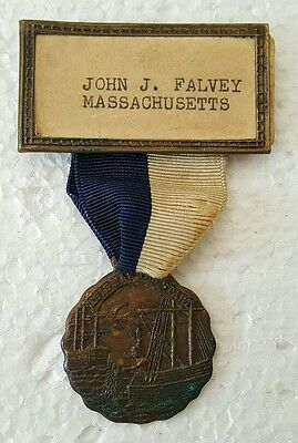 Vintage Boston Tea Party THIS WAS THE START Fraternal Medal by Pilgrim Badge
