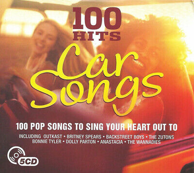 Various Artists : 100 Hits: Car Songs CD Box Set 5 discs (2016) Amazing Value