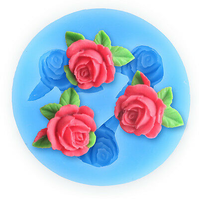 Roses Flower Butterfly Silicone Mould Sugarcraft, Cake Decorating , Fondant,Fimo