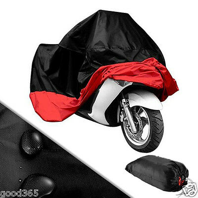 Motorcycle Bike Accessory Polyester Waterproof Dustproof UV Protective Cover XXL