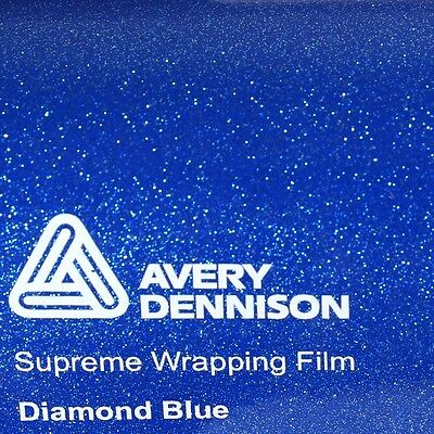 23,02€/m² Avery Supreme Wrapping Film Glossy Blue DIAMOND Blau Folie GLITZER