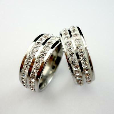 25pcs Frosted Rotation Men Women Stainless steel Rings Wholesale Mix Jewelry YFP