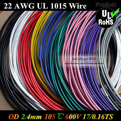 22AWG Flexible Stranded of UL 1015 Environmental Electronic wire conductor