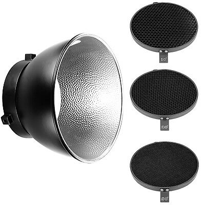 """Neewer 6.6"""" Honeycomb Grid Set(10 30 50 Degree) with 7""""Reflector Diffuser"""
