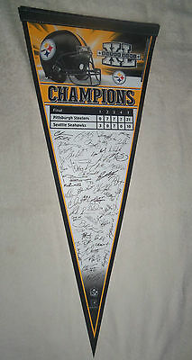 NFL Pittsburgh Steelers Super Bowl XL Team Autograph Large Pennant New