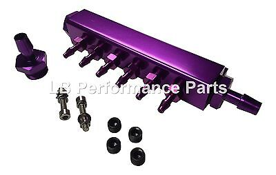 Stealth Vacuum Manifold PURPLE For Boost Gauge, FPR, Dump Valve, EBC Controller