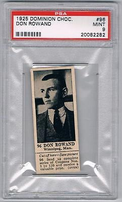 1925 Dominion Choc. Sports Card #96 Don Rowand (Boxing) Graded PSA 9