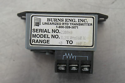 Burns Eng Tl21 0-160 Linearized Rtd Transmitter