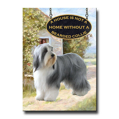 BEARDED COLLIE House Is Not A Home MAGNET Groenendael