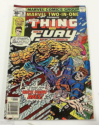 The Thing & Nick Fury Marvel Comic Book April 26th - 74957
