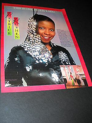 PATRICE RUSHEN is one posh lady! 1980 PROMO POSTER AD from POSH mint cond.
