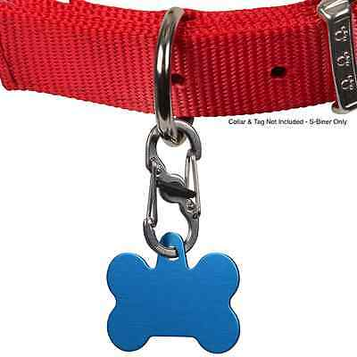 S-BINER TAGLOCK Dog Pet ID Tag Holder for Collar w Locking Double Carabiner Clip