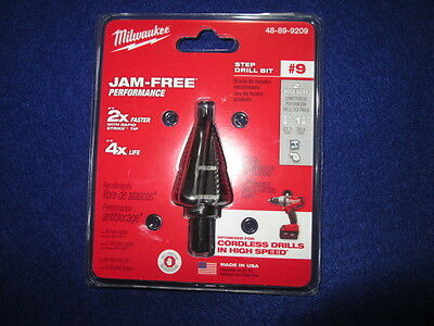 "Milwaukee 48-89-9209 #9 Step Drill Bit 7/8""-1-1/8"" New"
