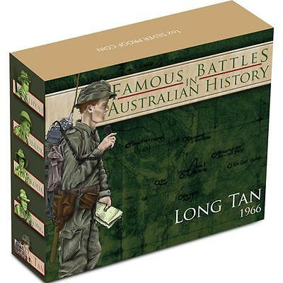 2012 1 oz Proof Silver Battle of Long Tan Coin, Famous Battle Series Coin